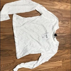knit white top forever 21